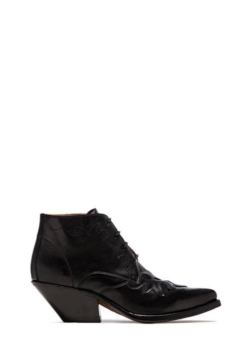 BUTTERO: ELISE LACE-UP LOW DURANGO BOOTS COLOR BLACK (B7206DIV-DC1/01)
