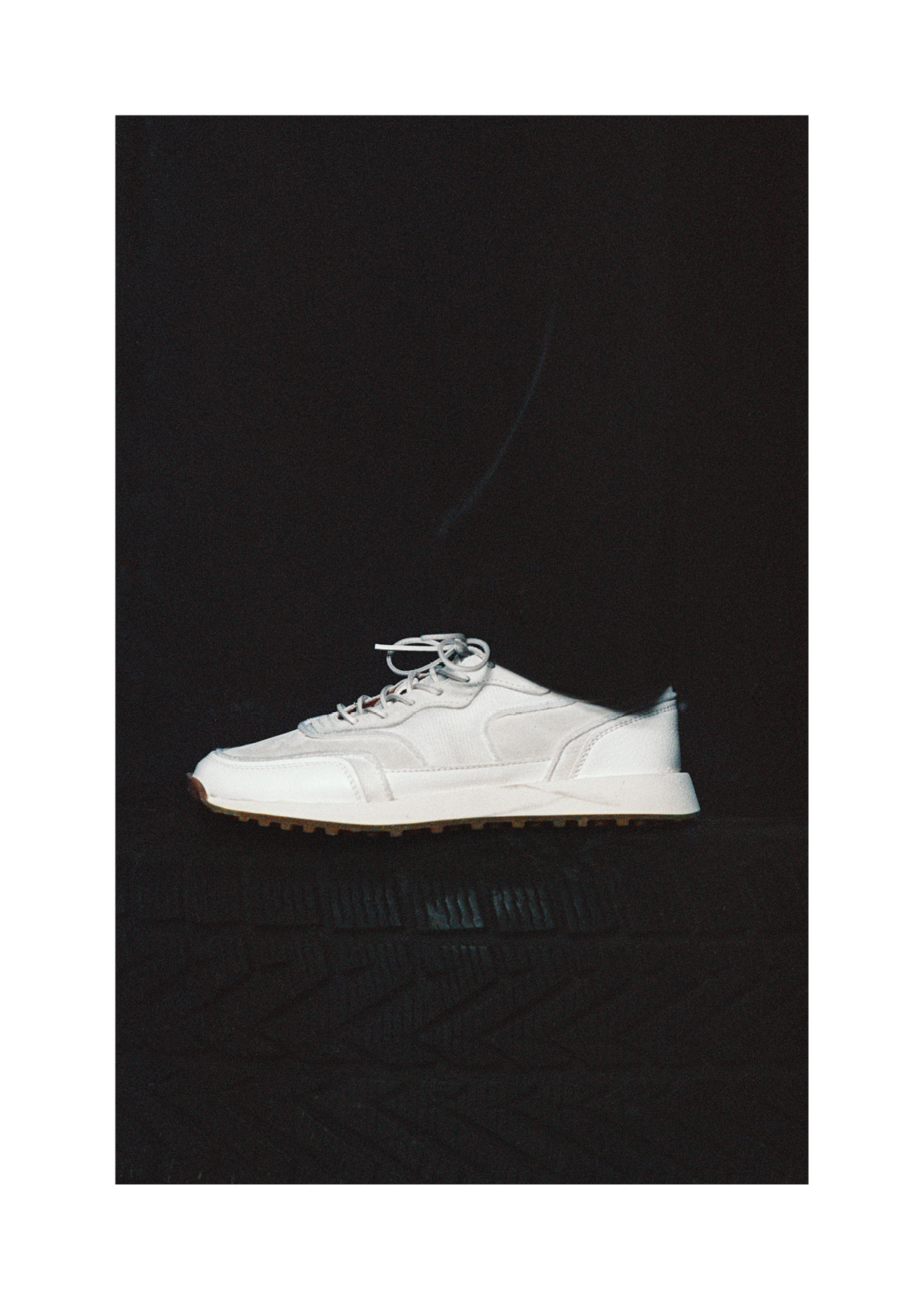 VENTURA SNEAKERS IN WHITE NYLON MESH AND SUEDE
