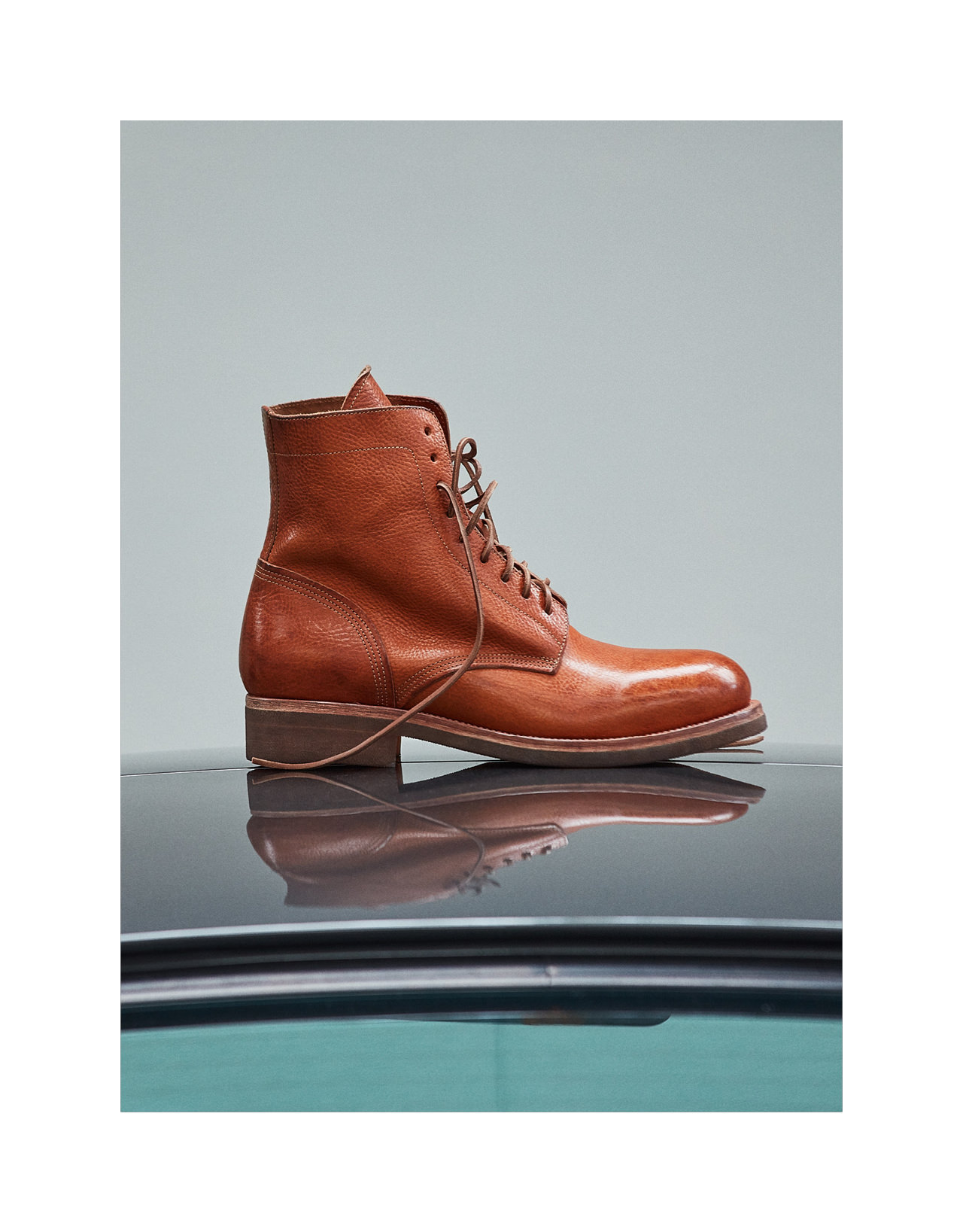 TOM ANKLE BOOTS IN NATURAL BROWN LEATHER