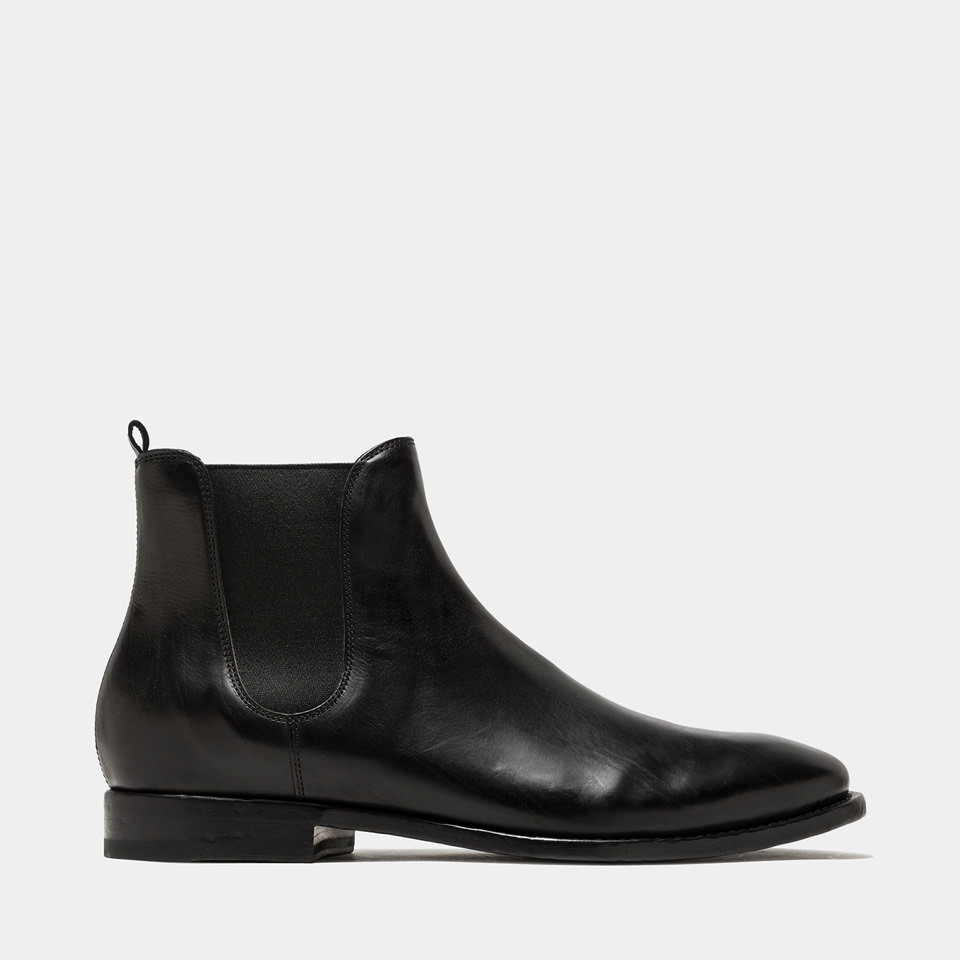 BUTTERO: LEATHER KINGSLEY BOOTS COLOR BLACK