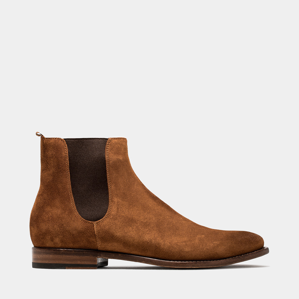 BUTTERO: SUEDE KINGSLEY BOOTS COLOR TERRA BROWN