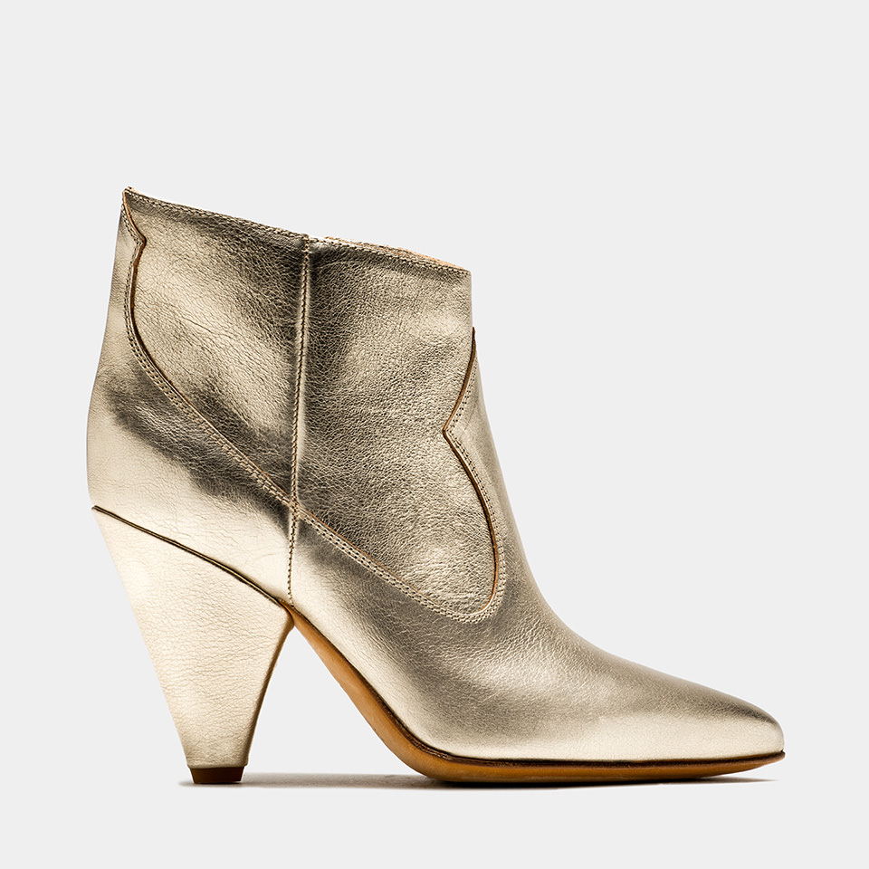 BUTTERO: PLATINUM LAMINATED LEATHER ROSE LOW TOP BOOTS