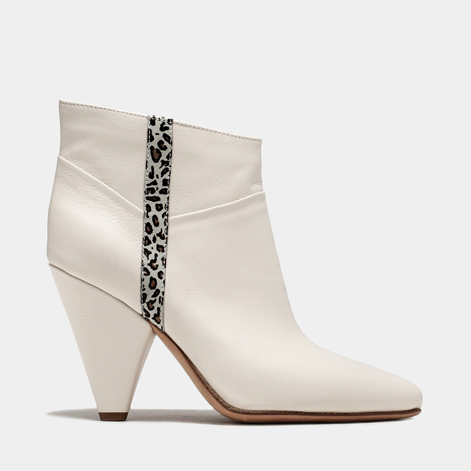 BUTTERO: CREAM LEATHER ROSE LOW TOP BOOTS