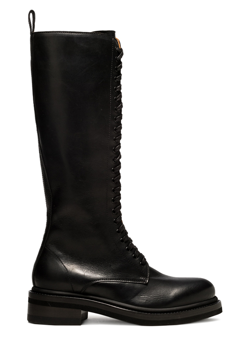 BUTTERO: HIGH COMBAT BOOT IN BLACK LEATHER (B9241OILBR-DG1/01)