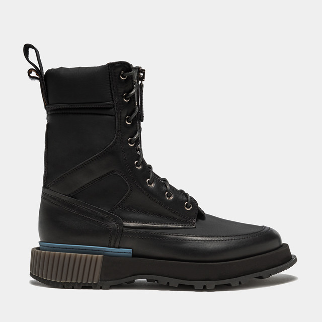 BUTTERO: BLITZ COMMANDO BOOTS IN LEATHER AND FABRIC COLOR BLACK (B9550VARA-UG1/A)
