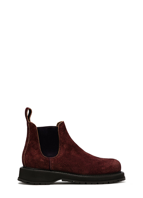 BUTTERO: CHELSEA BOOTS ZENO IN PELLE MONKEY DARK CHILE