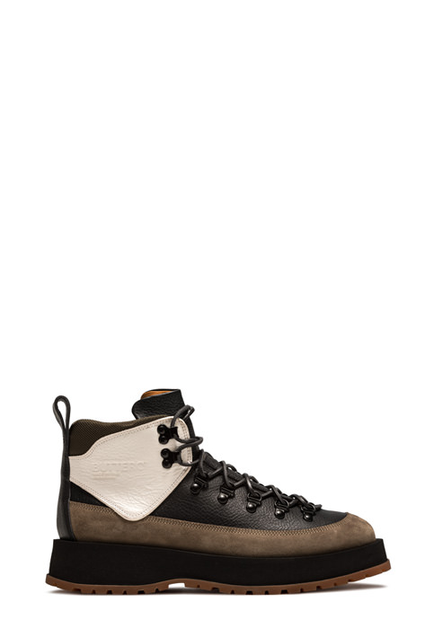 BUTTERO: HIKING BOOTS IN BLACK LEATHER AND SUEDE (B9140VARC-UG1/C)