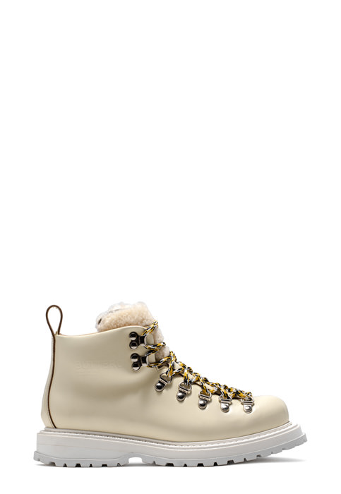 BUTTERO: ZENO HIKING BOOTS ZENO IN CREAM WHITE LEATHER