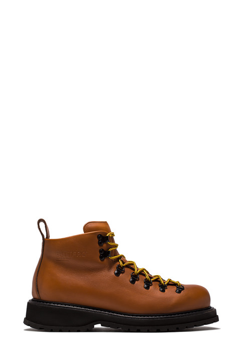 BUTTERO: ZENO HIKING BOOTS IN NATURAL BROWN PULL EFFECT LEATHER (B8521BOWH-UG1/05)