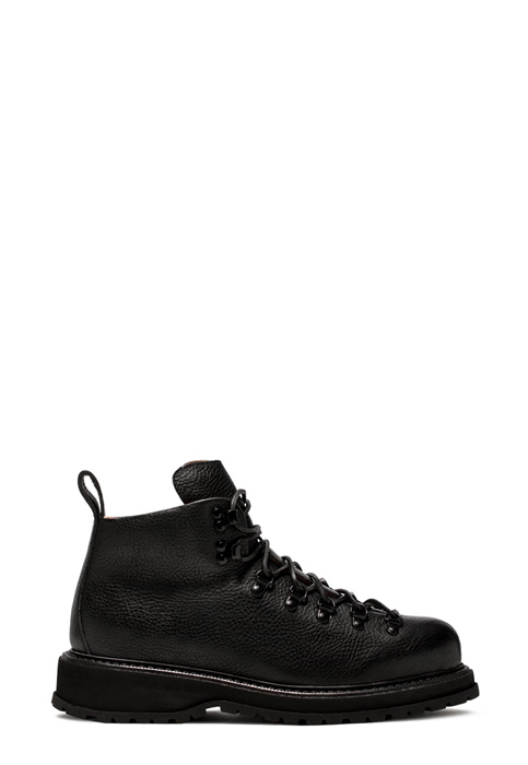 BUTTERO: ZENO HIKING BOOTS IN BLACK COWHIDE (B8521MAIN-UG1/01)