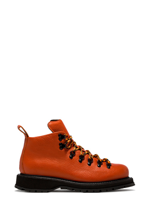 BUTTERO: ZENO HIKING BOOTS IN OREGON ORANGE LEATHER