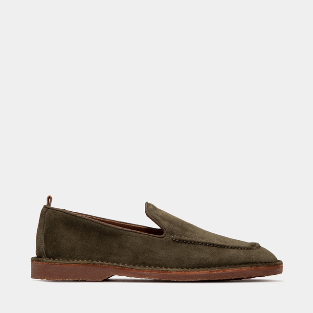 BUTTERO: ARGENTARIO LOAFERS IN MOSS SUEDE (B9320GORH-UG1/86)