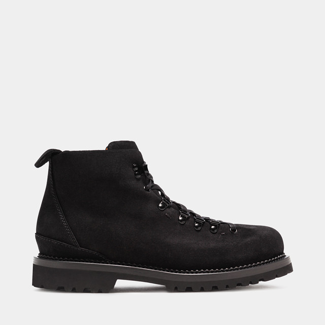 BUTTERO: CANALONE HIKING BOOTS IN BLACK SUEDE (B6601TREK-UG1/01)