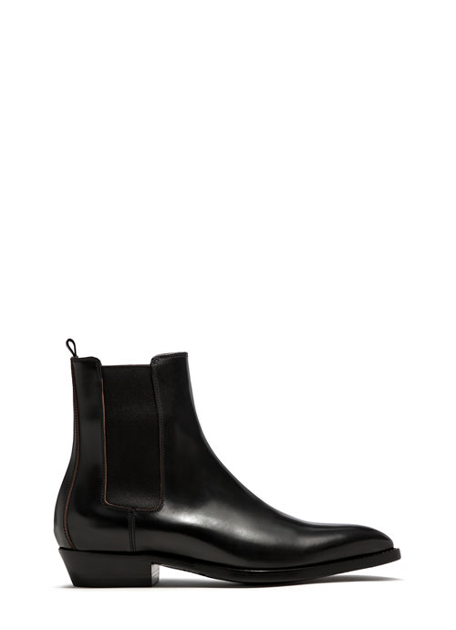 BUTTERO: BLACK LEATHER FARGO ANKLE BOOTS (B8090ROA-UC1/01)