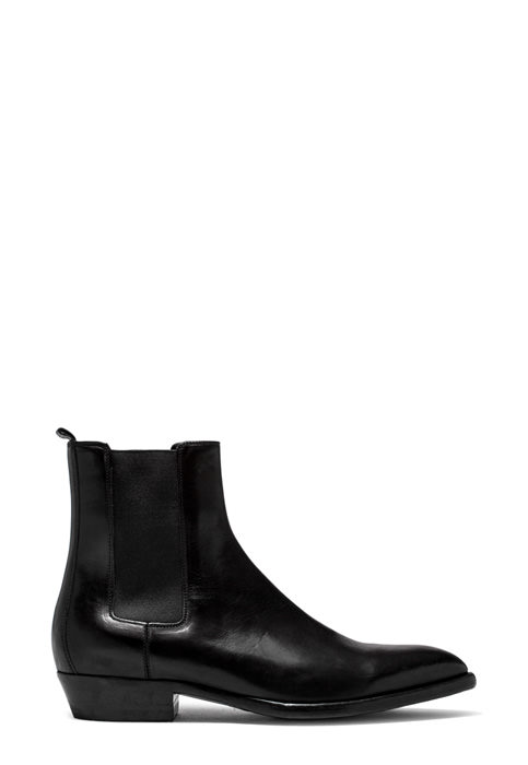 BUTTERO: FARGO ANKLE BOOTS IN BLACK WASHED LEATHER (B8090CUP-UC1/01)