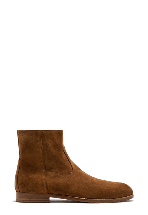BUTTERO: FLOYD ANKLE BOOTS IN LIGHT BROWN SUEDE (B9170GORH-UC1/18)
