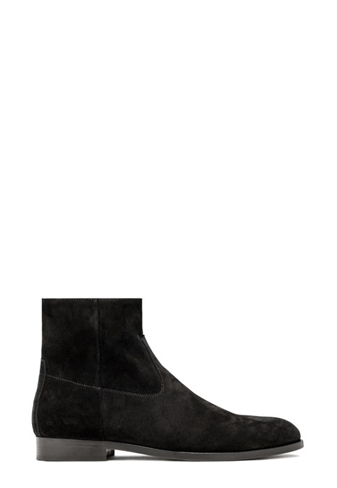 BUTTERO: BLACK SUEDE FLOYD ANKLE BOOTS (B8560GORH-UC1/01)