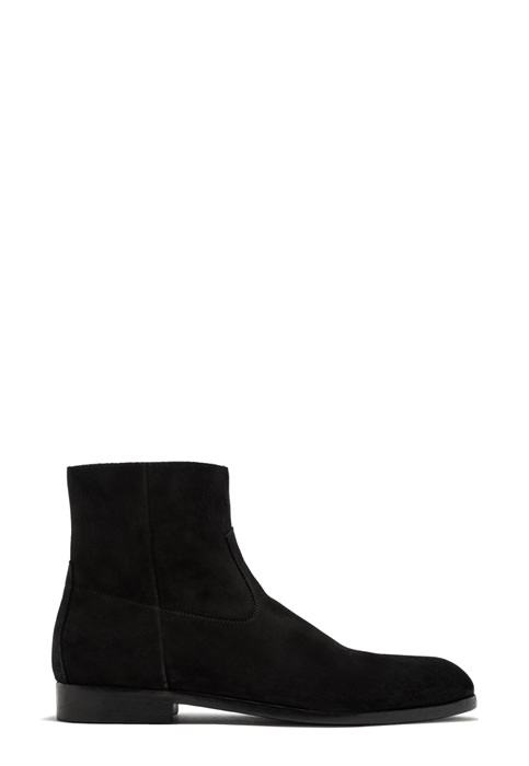 BUTTERO: FLOYD ANKLE BOOTS IN BLACK SUEDE (B9170GORH-UC1/01)