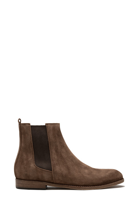 BUTTERO: FLOYD ANKLE BOOTS IN CIGAR BROWN SUEDE