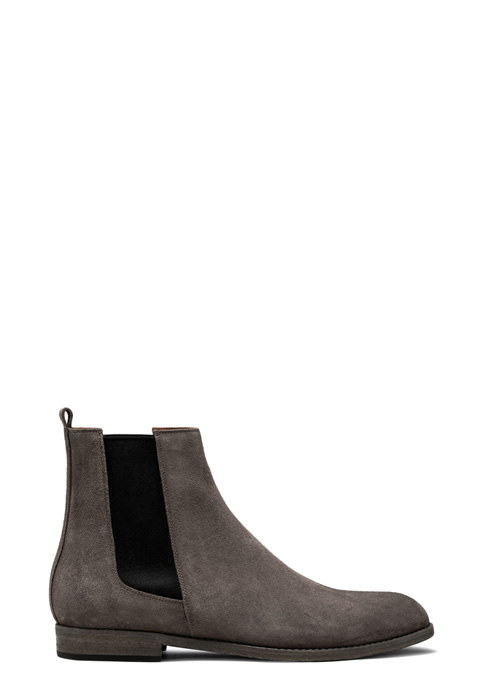 BUTTERO: FLOYD ANKLE BOOTS IN TAUPE GRAY SUEDE (B8881GORH-UC1/21)