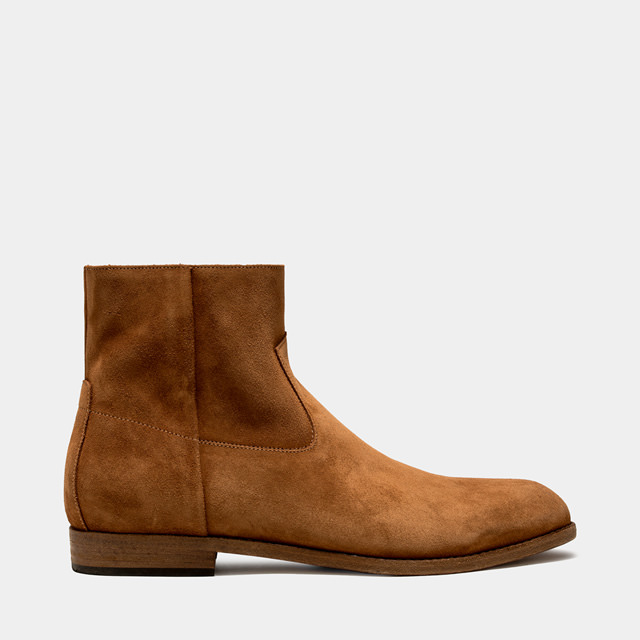 BUTTERO: FLOYD ANKLE BOOTS IN SIENNA SUEDE (B8880GORH-UC1/18)