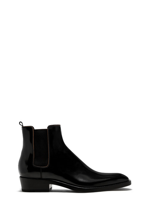 BUTTERO: BLACK LEATHER QUENTIN BOOTS (B8070ROA-UC1/01)