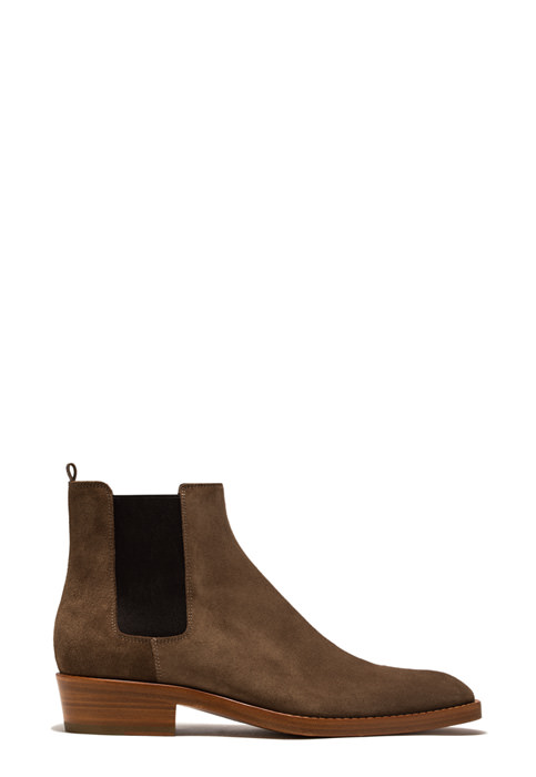 BUTTERO: QUENTIN ANKLE BOOTS IN CIGAR BROWN SUEDE