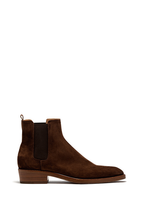 BUTTERO: SNUFF BROWN SUEDE QUENTIN BOOTS (B8070GORH-UC1/27)