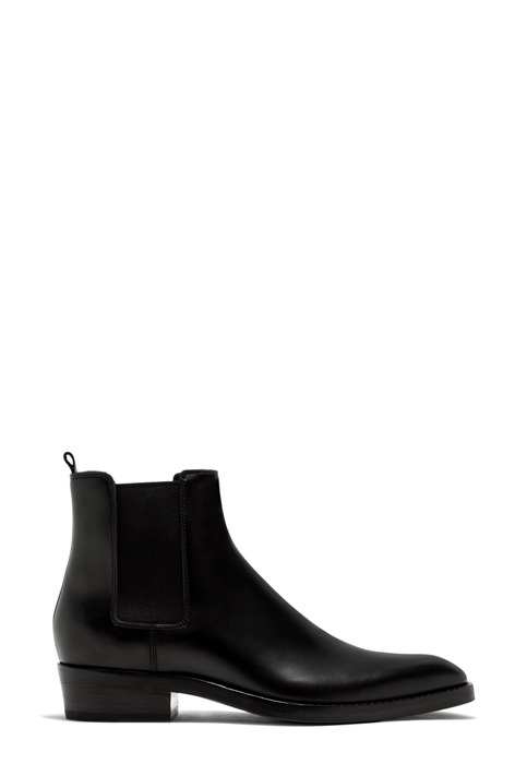 BUTTERO: QUENTIN ANKLE BOOTS IN BLACK BRUSHED LEATHER (B9180BOLO-UC1/01)
