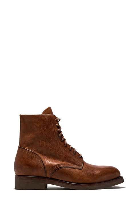 BUTTERO: TOM ANKLE BOOTS IN NATURAL COLOR LEATHER