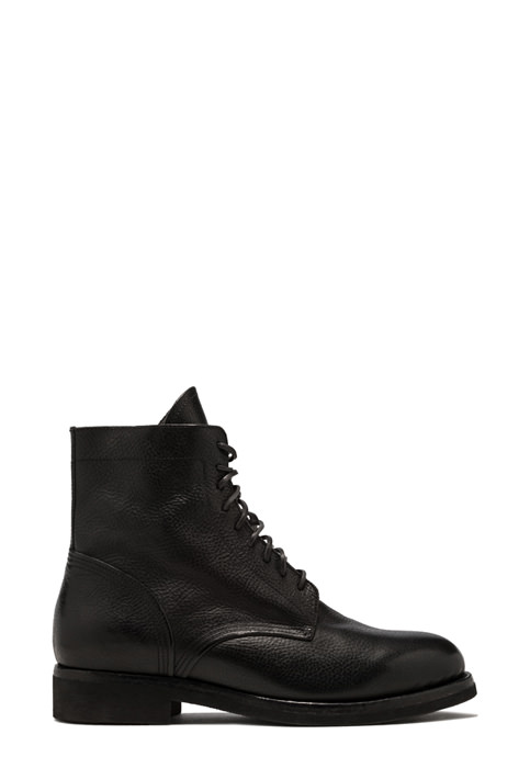 BUTTERO: TOM ANKLE BOOTS IN BLACK LEATHER (B9160MAIN-UG1/01)