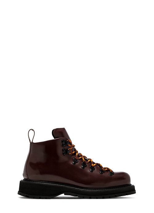 BUTTERO: ZENO HIKING BOOTS IN TAURUS BROWN LEATHER