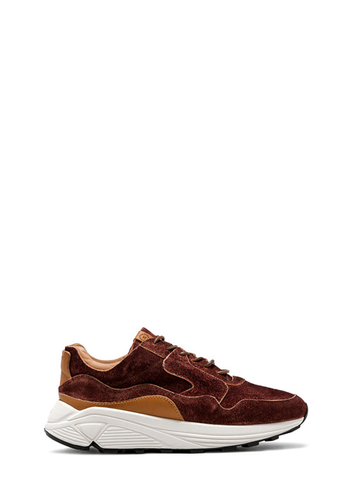 BUTTERO: VINCI RUNNING IN DARK CHILE MONKEY CALF LEATHER (B8020VARB-UG1/B)