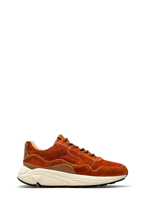 BUTTERO: VINCI RUNNING IN PAPRIKA MONKEY CALF LEATHER