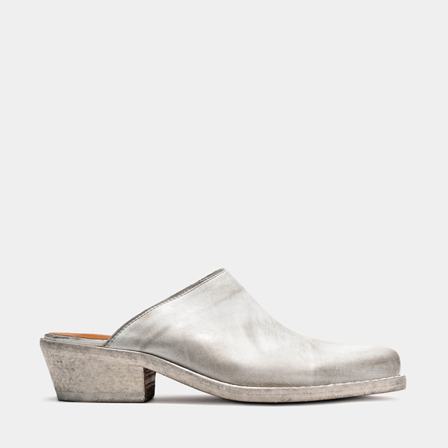BUTTERO: DALTON MULES IN WHITE LEATHER (B9411RUB-DC1/02)