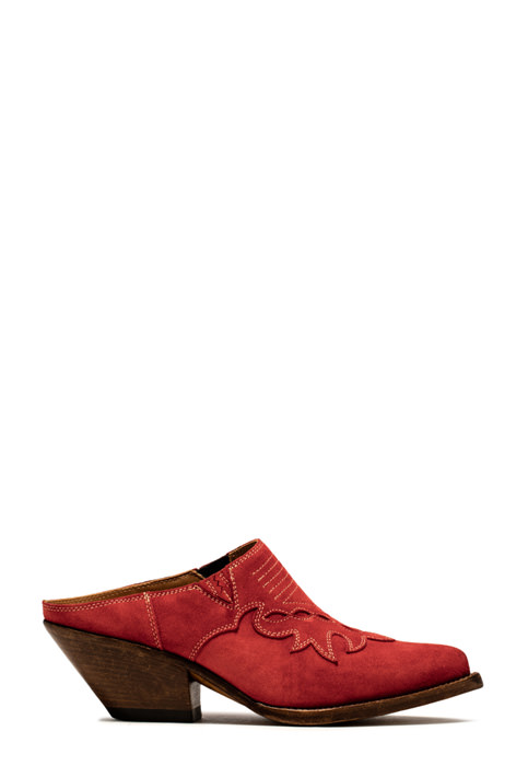 BUTTERO: ELISE CLOG IN RUBY SUEDE