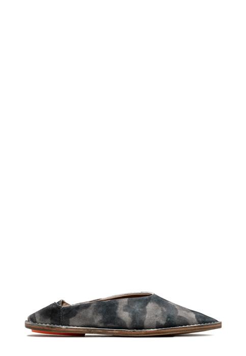 BUTTERO: BABOUCHE MAROCCHINA RIVIERA IN SUEDE TIE DYED BIANCO/GRIGIO/NERO