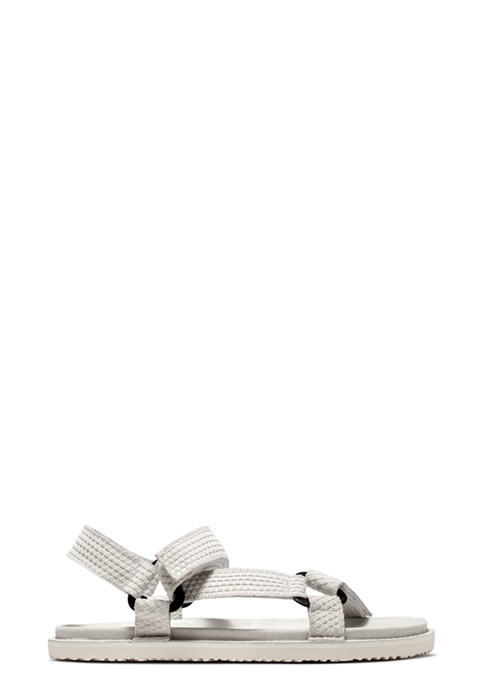 BUTTERO: WHITE PRINTED  SUEDE EL FUSO SANDALS WITH STRAPS (B8241VARA-UG1/A)