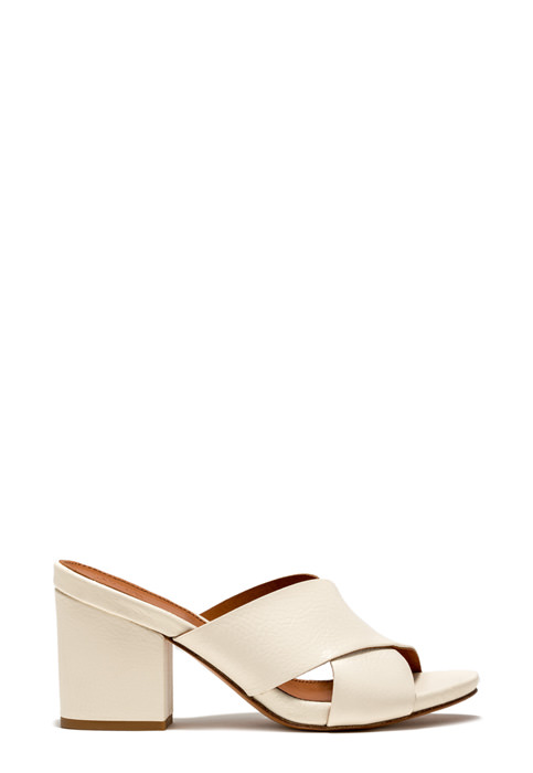 BUTTERO: ALISON SANDALS IN CREAM WHITE LEATHER (B8430MAB-DC1/03)