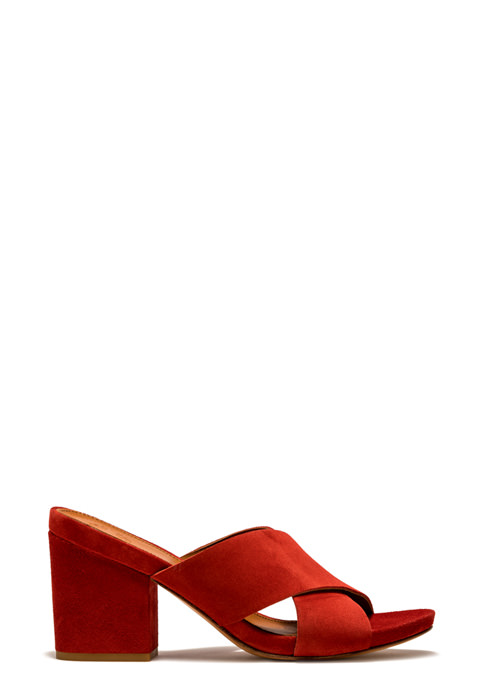BUTTERO: ALISON SANDALS IN RED SUEDE (B8430LIG-DC1/16)