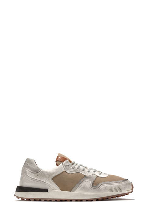 BUTTERO: FUTURA SNEAKERS IN NYLON MESH AND SUEDE COLOR WHITE (B8810VARB-UG1/B)