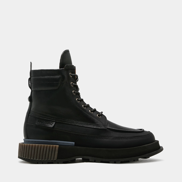 BUTTERO: BLITZ COMBAT BOOTS IN BLACK LEATHER (B9551VARB-UG1/B)