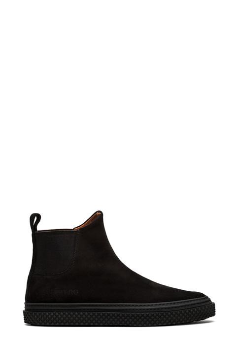 BUTTERO: BLACK SUEDE COLLODI CHELSEA BOOTS (B8500GORH-UG1/01)