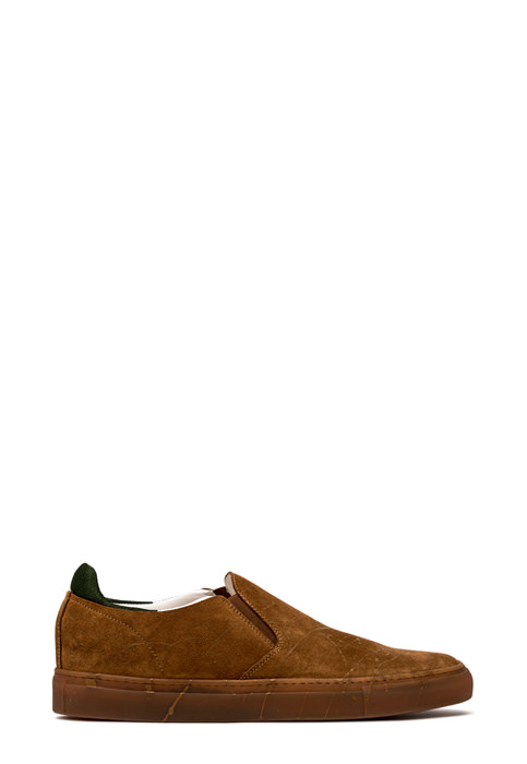 BUTTERO: SLIP ON TANINO IN SUEDE COLORE TERRA (B8853VARA-UG1/A)