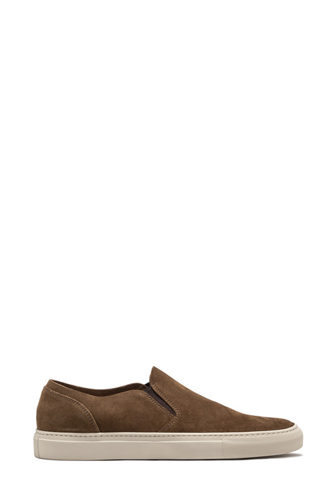 BUTTERO: SLIP ON TANINO IN SUEDE TABACCO (B5004GORH-UG1/06)