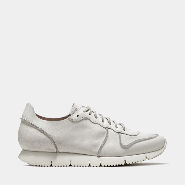 BUTTERO: CARRERA SNEAKERS IN WHITE BIANCHETTO LEATHER