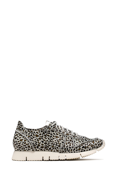 BUTTERO: OFF WHITE LEATHER CARRERA SNEAKERS WITH LEOPARD PRINT (B6081ETRM-DG1/02)