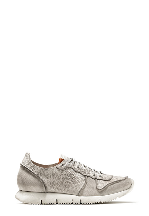BUTTERO: SNEAKER CARRERA IN SUEDE STAMPATO BIANCO (B8210VARA-UG1/A)