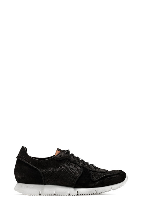 BUTTERO: SNEAKER CARRERA IN SUEDE STAMPATA NERO (B8210VARB-UG1/B)