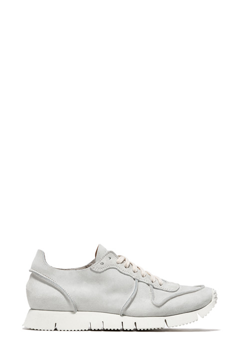 BUTTERO: SUEDE CARRERA SNEAKERS COLOR WHITE (B6921GORH-DG1/02)